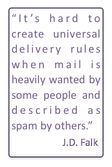 Deliverability is hard when some people like the same email other people think is spam