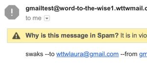 Mail sent over TLS
